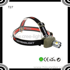 Poppas T27 Brightness ABS+AluminiumAlloy 3*AAA Dry battery 3h Long Running Time Led Headlamp