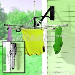 18 Meter Drying Space 5-Arm Umbrella Aluminum Folding Clothes Airer Dryer Wall Mounted