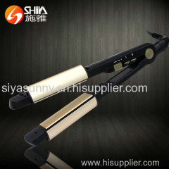 fashion titanium newest design hair straightener flat iron in world market