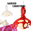 Pure White and Red Decoration Resin pendant lights MS P1019 Creative Hanging Lamp