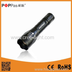 POPPAS Wholesale 2015 450 lumens XML T6 Led Flashlight/Zoom Flashlight