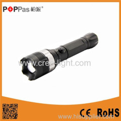 POPPAS-T823 Rechargeable XPE R2 High Power Police LED Flashlight