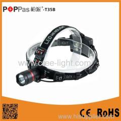 POPPAS High Quality Aluminum CREE XPG R5 Rechargeable LED Headlamp Flashlight