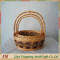 Extra large wicker basket Flower basket set for party