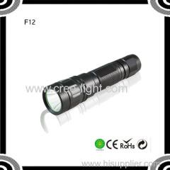 POPPAS F12 2015 Cheap XML T6 LED Aluminum Alloy Waterproof IPX7 Tactical Flashlight