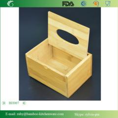 BH007/Bedroom Bamboo Tissue Box Tissue Holder Cover
