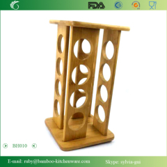 Rack Rotates Lazy Susan Bamboo 16 Filled Bottle Pepper Spice Rack