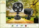 High Brightness Unique Small 8 Watt Solar Motion Detector Lights 300LM