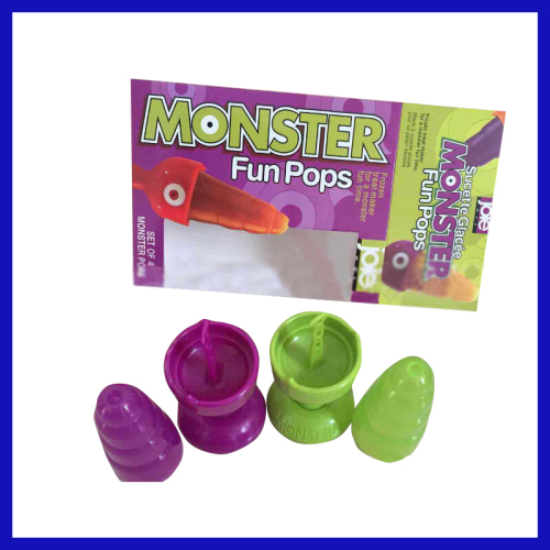 Monster Fun pops set of 4 plastic ice lolly mold