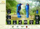 Exterior ABS DC5V Solar Camping Lanterns , Siren Portable Dynamo Flashlight