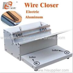 Heavy duty electric double wire closing machine