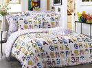 Character Cartoon Floral Bedding Sets , Twill Cotton Fabric Reactive Dye