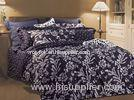 luxury Floral Bedding Sets , Bedroom Sheet Sets With High Yarn Reactive Printing