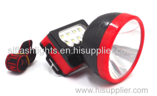 High Quality 1 LED Head Lamp With 8 LED