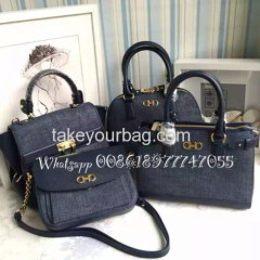 WHOLESALE HIGH QUALITY GENUINE LEATHER DENIM TOTE WALLET ON CHAIN BAG