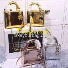 WHOLESALE LADY HANDBAG MISS LADY MIRROR PATENT LEATHER SHINY BAG