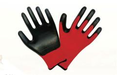 Zwarte nitril Nylon handschoenen 13 naald polyester handschoenen labor handschoenen