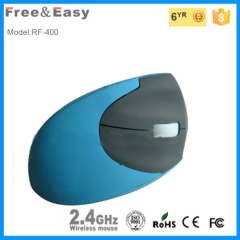 Multicolor rubber deluxe vertical wireless mouse for laptop