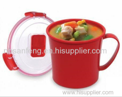 Microwave Soup Mug Microwavable Travel Mugs with Handle