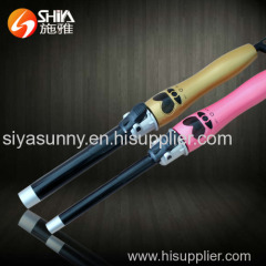 pretty cute LCD magic electric rotary electric hair curler curling iron from china