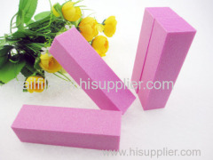 pink nail buffer blocks sponge nail file sanding block