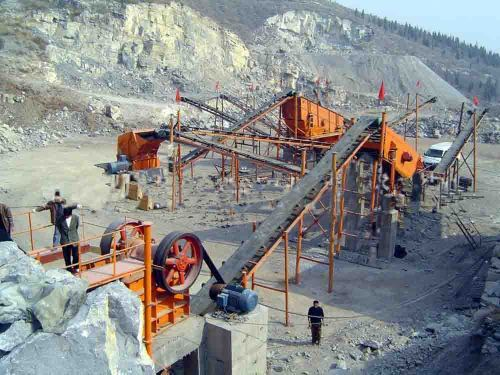 Hongji high technical crushing plant stone