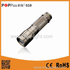 POPPAS 10W 400lumens CREE XM-L T6 ZOOM Rechargeable Torch Light