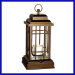 classic square metal lantern and candle holder