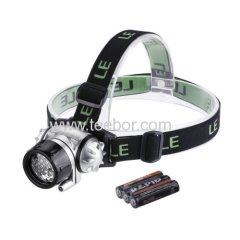 Lighting Ever Led Headlamp 12 White LED with 4 Brightness Level Choice Led Headlamp 3 AAA Batteries