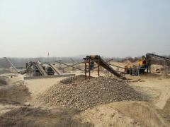 Second fine crusher for the stone crushing plant