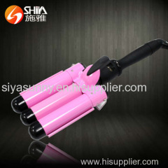 LCD three barrel magic styler hair curler with hair curling irons waver styler