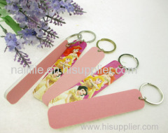 Key ring nail file eva emery board nail art tool