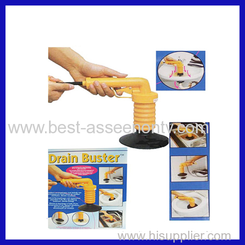 Multi-functional cleaning drain buster as seen on TV