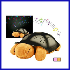 Gift Tortoise LED Star Projector Lamp 4 Songs Music LED Night Light