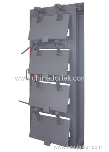 explosion-blast shielding suspended panel moveable door
