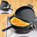 Deluxe Nonstick Omelet Pan With Egg Poacher With Lid