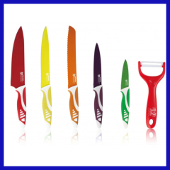 non-stick coating kitchen knife 5pcs knife set