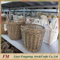 Wicker Garden basket christmas basket for Home Decoration