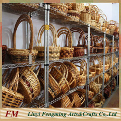 Beautiful flower willow baskets with handles