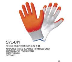 Export niveau commerce extérieur l'origine 10 unique en caoutchouc gants fil écru orange tabby gants latex Prevent sli