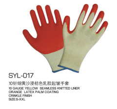 10 rubber Labour protection glove knitting yarn export processing corrugate latex gloves protective gloves Factory direc