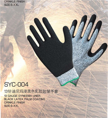 13 needle di nima rubber gloves Thickening abrasion resistance slippery oil cutting export superior quality gloves