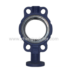Ductile Iron PN16 Wafer Butterfly Valve Fitting Casting Parts OEM