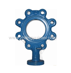 Ductile Iron Butterfly valve Body Casting Parts OEM