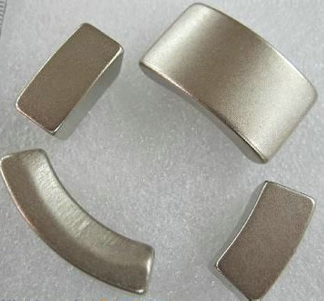 High temperature sintered ndfeb arc magnets