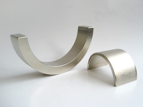 NdFeB Arc segment nickel plated Magnets