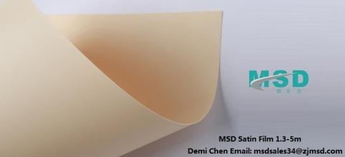 PVC stretch ceiling satin film
