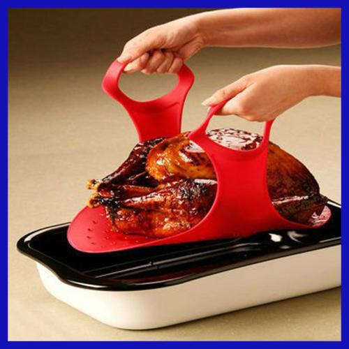 Silicone heat resistant Easy to clean and Dishwasher safe silicon turkey sling
