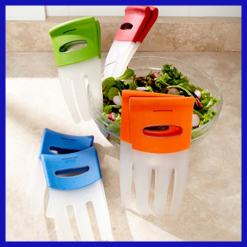 plastic 2 pcs salad hands salad tools as seen on TV