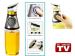 Healthy Cooking 500ml Oil Vinegar Press & Measure Kitchen Glass Bottle Dispenser